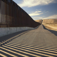 stretch of border wall between U.S. and Mexico