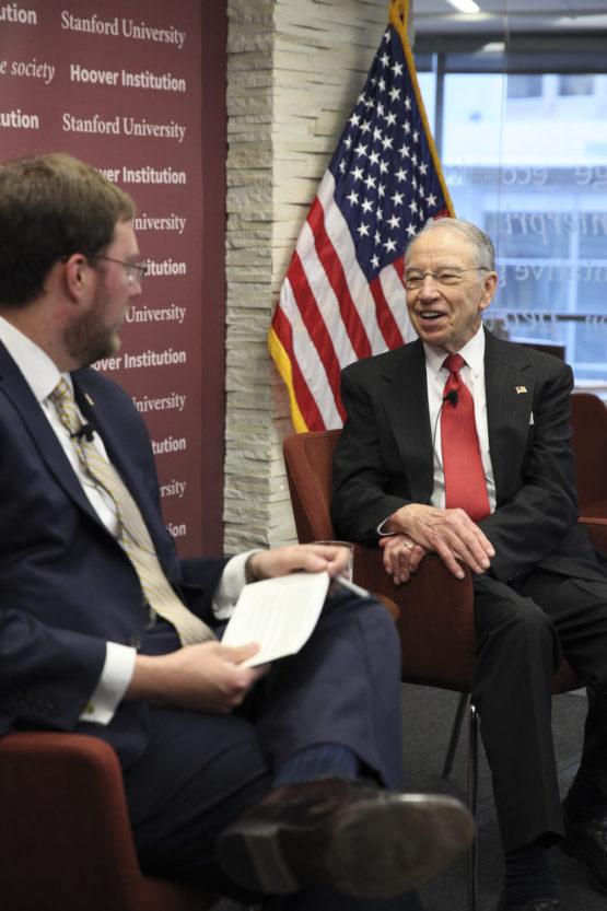 Hoover Research Fellow Adam White interviews Sen. Chuck Grassley