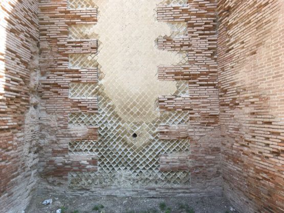 Wall of a Roman amphitheater