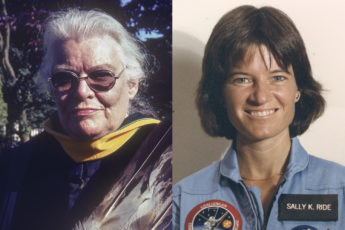 composite portraits: Carolyn Lewis Attneave; Sally Ride