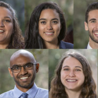 composite photo of five 2019 Knight-Hennessy Scholars