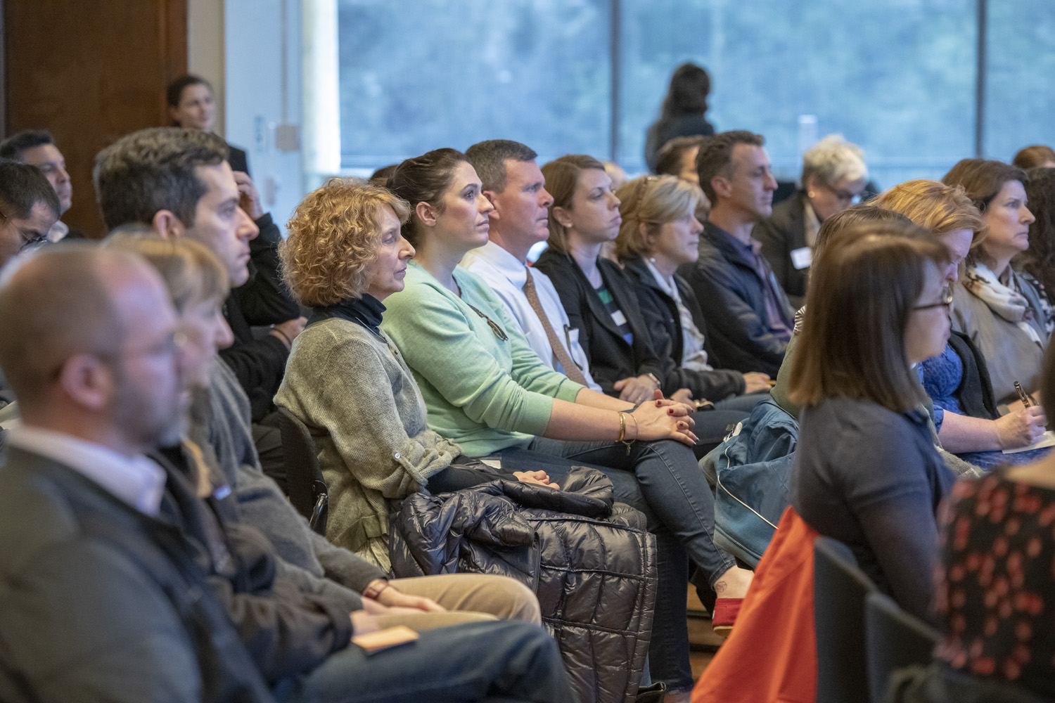Audience at 3/8/19 conversation with Persis Drell and Marc Tessier-Lavigne