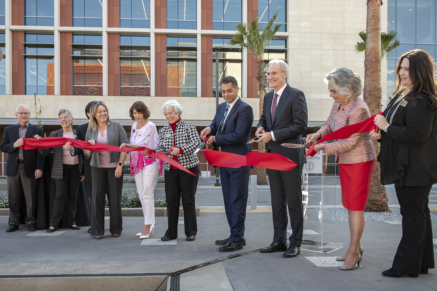 Official opening and ribbon cutting at the Stanford Redwood City Campus
