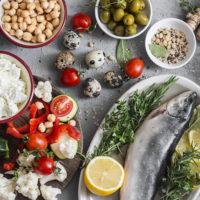 Mediterranean style food