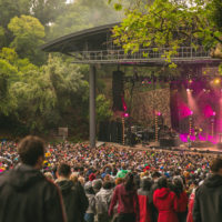 opening concert at renovated Frost Amphitheater May 18
