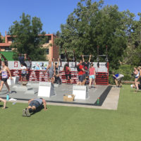Students participate in the 2018 Murph.