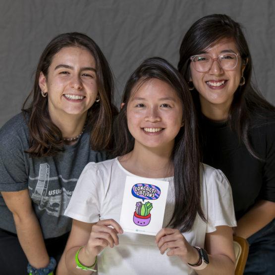 Nicolette Grabiec, Vivian Xiao and Chloe Thai