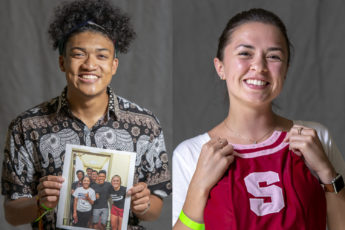 "Dorian Lumarque leaves behind a photo taken at Roble at the end of his freshman year. Arianna Tapia leaves a Stanford Dollie dress from her 2016-17 year because ""my Dollie year was the most formative year I had at Stanford in which I grew into the person I think I'm supposed to become—quirky, happy-go-lucky and goofy."""