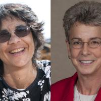 2019 Cuthbertson Award winners Maggie Burgett and Patricia Gumport