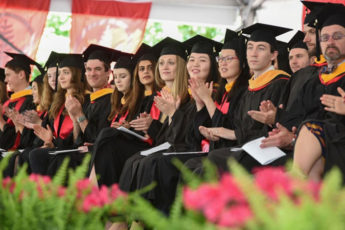 students at School of Medicine graduation ceremony on June 15, 2019
