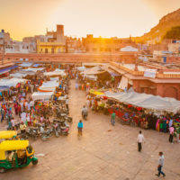 Open air market in Jodhpur, India