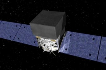 Artist's concept of the Gamma-Ray Large Area Space Telescope