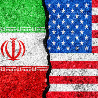 US-Iranian flags