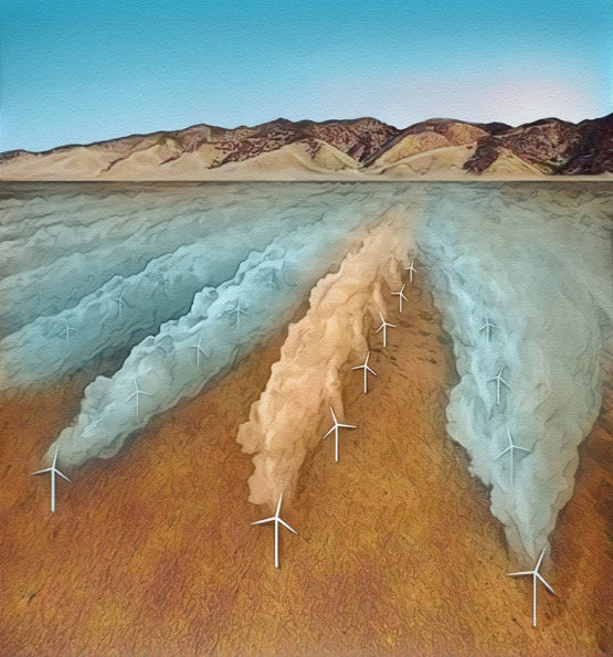 Wind farm art