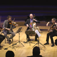 A quintet performs at the free concert in Bing Concert Hall