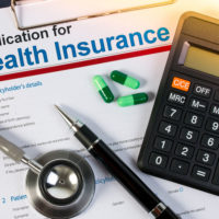 Application form for health insurance
