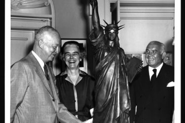 President Eisenhower, Anna Lord Strauss and Spyros Skouras