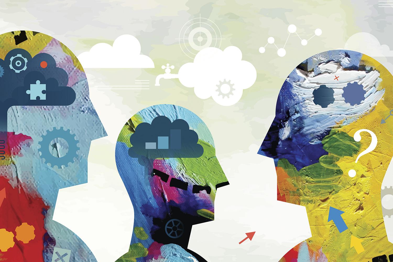 illustration depicting power of mind