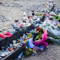 Flowers at memorial