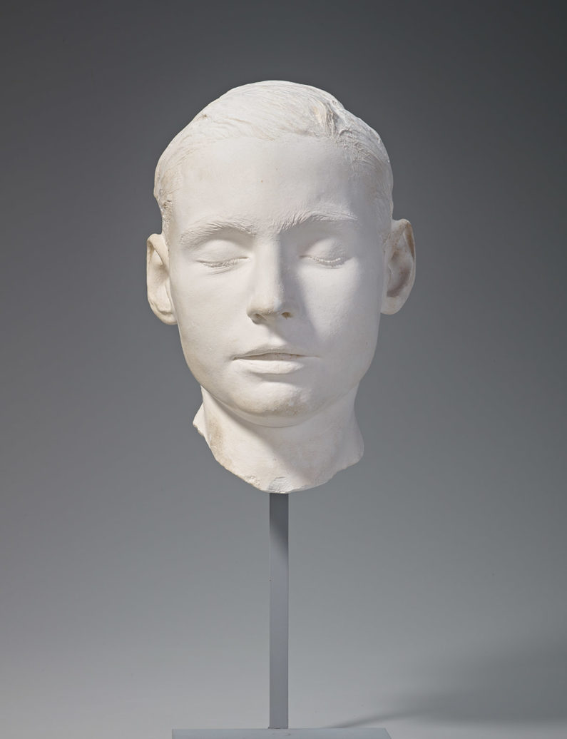 Leland Jr.'s death mask