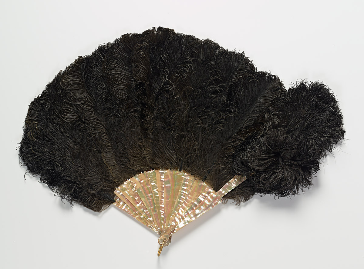 Black Ostrich Feather Fan