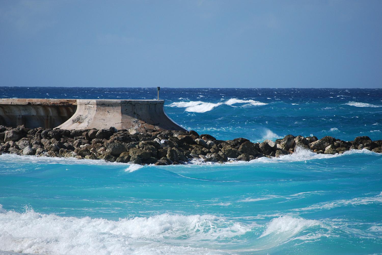 photo of a seawall
