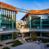 The Stanford ChEM-H Building and the Stanford Neurosciences Building
