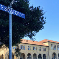 Jane Stanford Way street sign