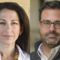 Andrew Grotto and Janine Zacharia