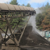 Contaminated soil from excavated underground petroleum storage tank sites is being processed and cleaned at a processing plant in Concord, New Hampshire October 25, 2013.