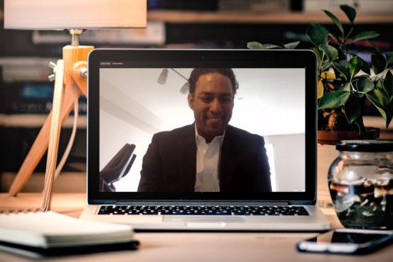 Image of Adam Banks taken via teleconferencing