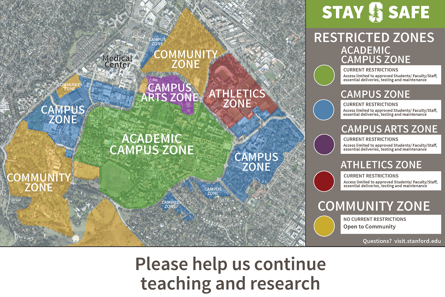 Stanford establishes zones on its main campus to facilitate the return of research and teaching   Stanford News