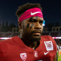 Treyjohn Butler closeup on football field