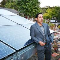 onathan Garcia, CEO, Simmitri Solar with solar panels