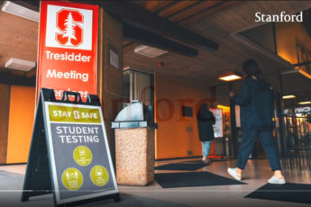 screen grab from video for students on spring quarter reopening