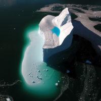 Melting iceberg in Kangerlussuaq Fjord, Greenland