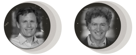 Portrait photos of Marshall Burke and Lawrence Goulder