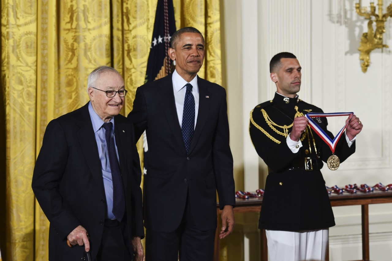 Albert Bandura receives the National Medal of Science from Barack Obama