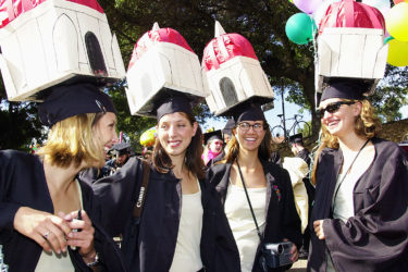 Hoover tower mortar boards