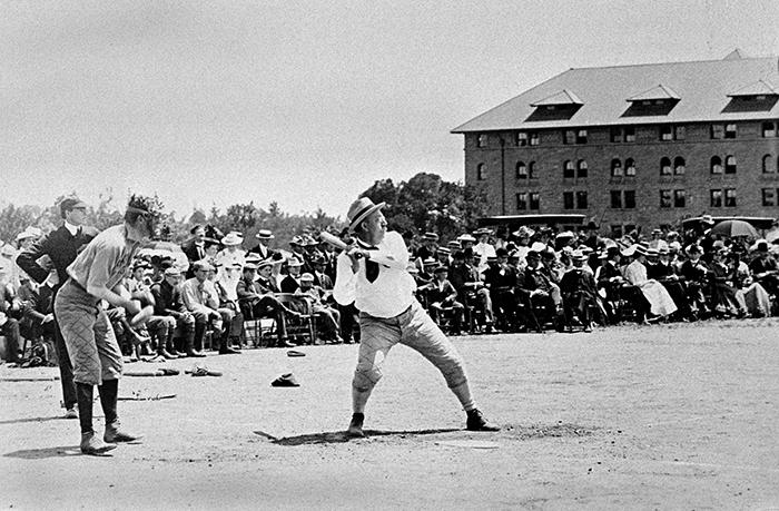 Jordan playing baseball