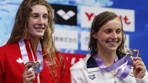 Taylor Ruck and Katie Ledecky
