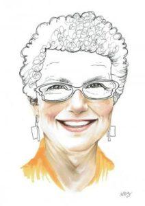 Graphic sketch of Margaret Levi