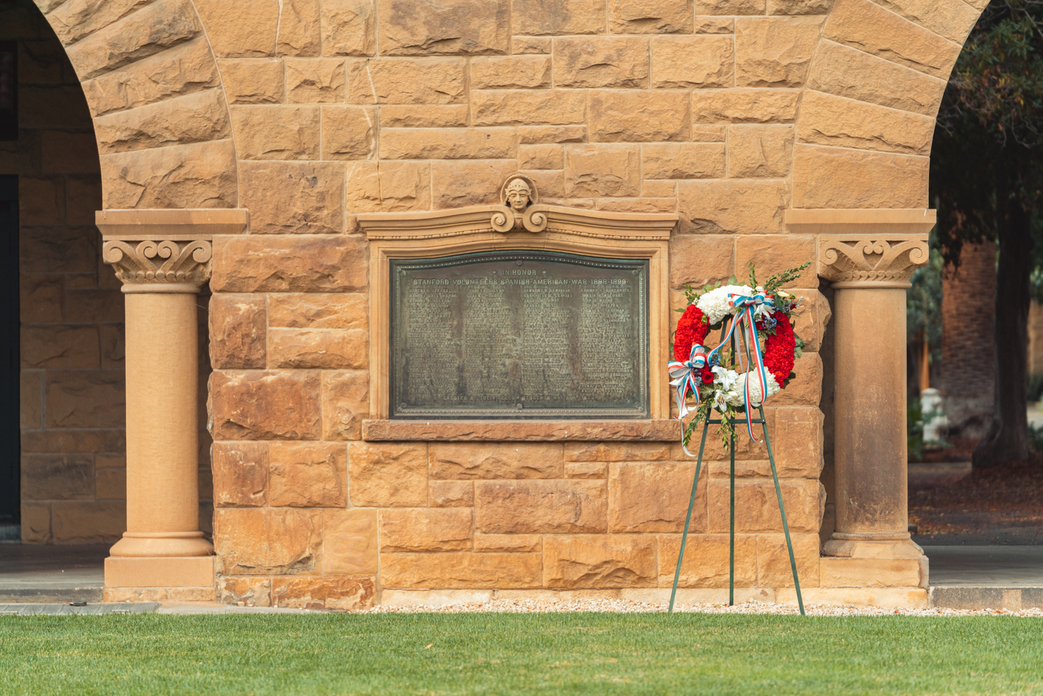 Memorial Court wreath