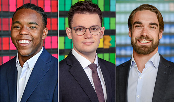 The 2021 Social Innovation Fellowship recipients, Shawon Jackson, Abdulhamid Haidar, and Ted McKlveen, launched ventures that address social and environmental needs. | Javier Flores