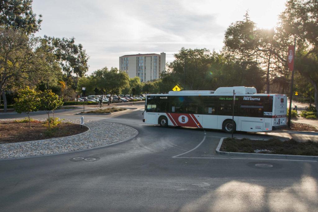 Marguerite shuttle at Escondido roundabout