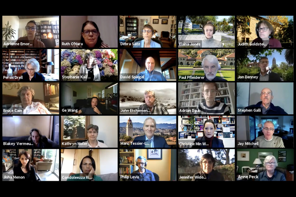 screenshot of Faculty Senate Zoom meeting of Nov. 12, 2020