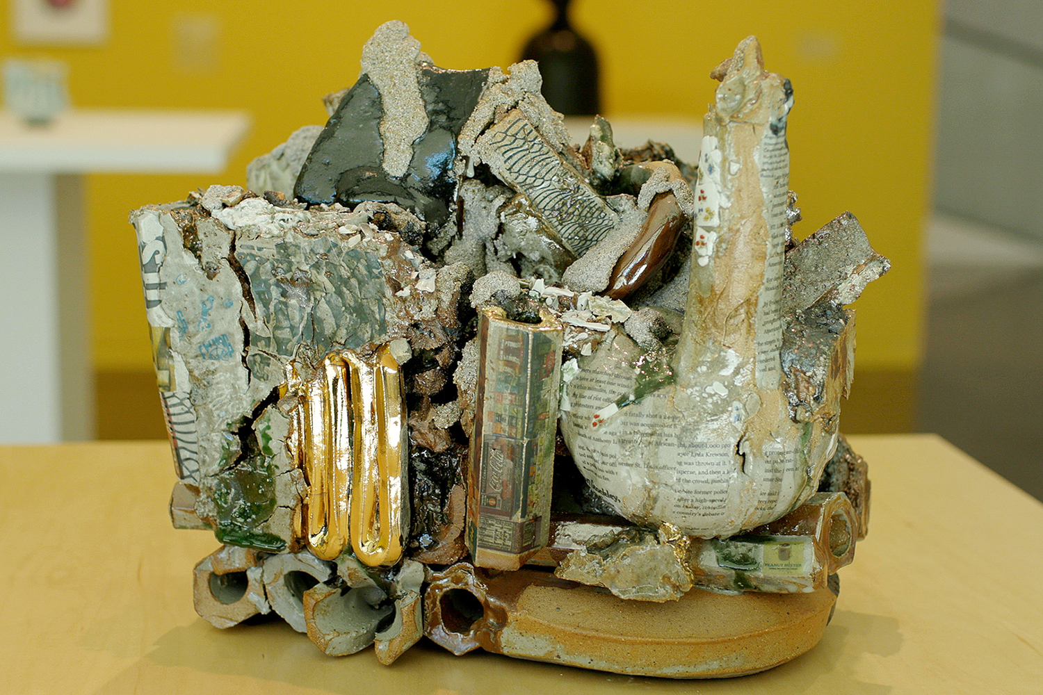 closeup of ceramic work by Kahlil Robert Irving