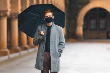 undergraduate with umbrella