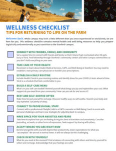 Wellness Checlist. Click to download accessible PDF.
