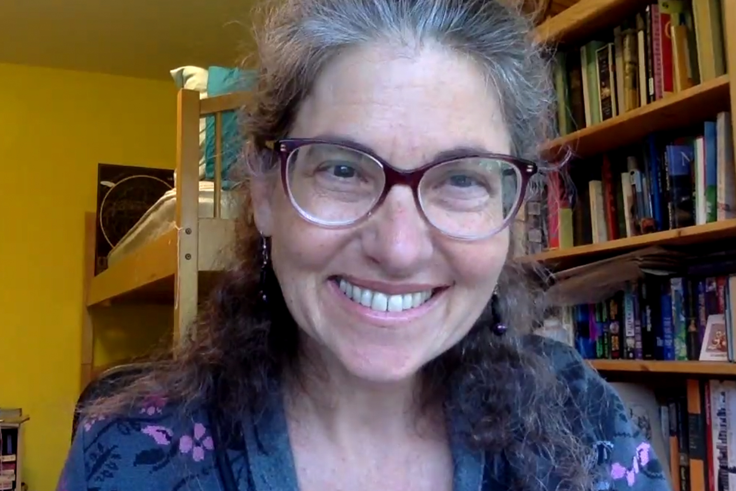 Professor Gabriella Safran, chair of the Committee on the University Press, at May 20, 2021 Faculty Senate meeting